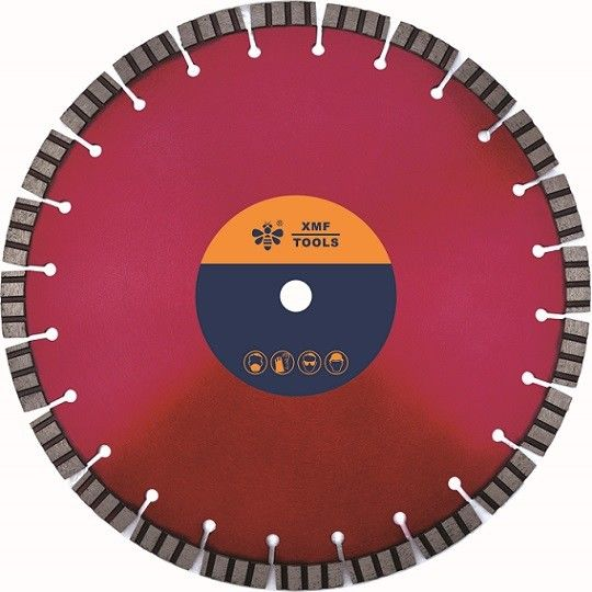 "4  ""  5 ""  10 ""  Segmented Diamond Saw Blade , Laser Welded Reinforce Concrete Cutting Disk"